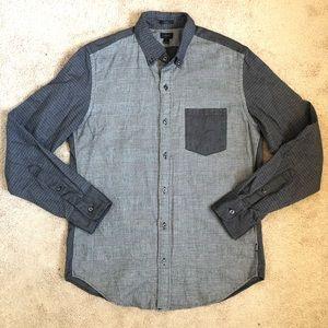 J.Crew Men's Slim Cotton Plaid Houndstooth Shirt